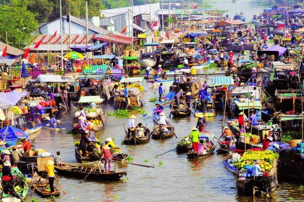 Khám phá chợ nổi là khám phá một nét đặc trưng của văn hoá miền Tây sông nước. @internet